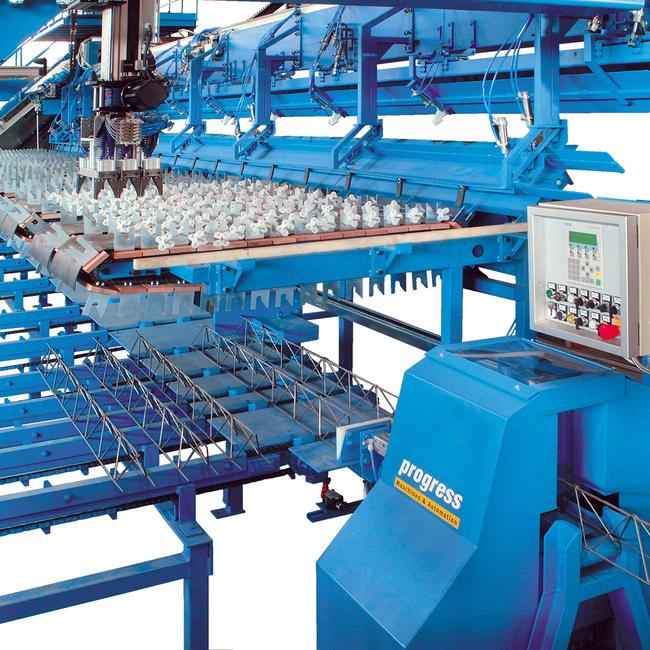 Lattice girder processing